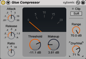 glue compressor ableton 9
