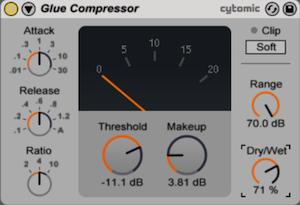 glue compressor ableton 9
